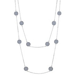 Red Herring - Silver glitter disc multi row necklace