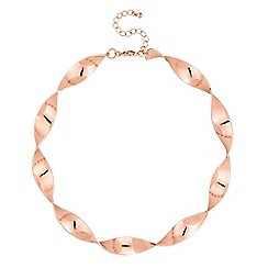 Red Herring - Rose gold twist necklace