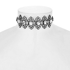 Red Herring - Ornate crystal choker necklace