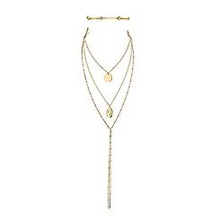 Red Herring - Multi row locket choker necklace