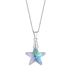 Red Herring - Aurora borealis crystal star necklace