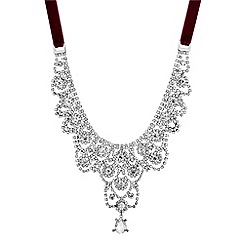 Red Herring - Ornate crystal necklace