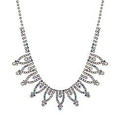 Red Herring - Aurora borealis diamante necklace