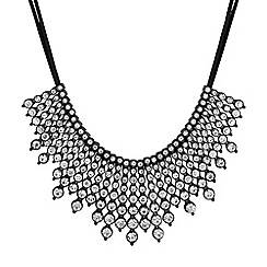 Red Herring - Crystal row collar necklace