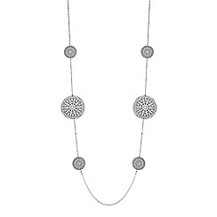 Red Herring - Glitter filigree disc necklace