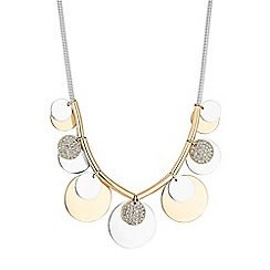 Red Herring - Pave disc necklace