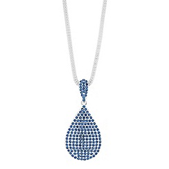 Red Herring - Pave peardrop long necklace