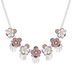 Red Herring - Pink floral cluster necklace