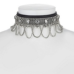 Red Herring - Crystal rodeo choker necklace