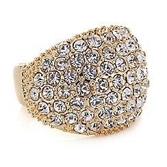 Red Herring - Rose gold crystal dome ring