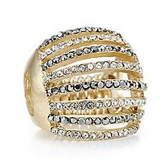 Red Herring - Gold crystal row ring