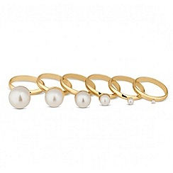 Red Herring - Graduated pearl ring stacker set