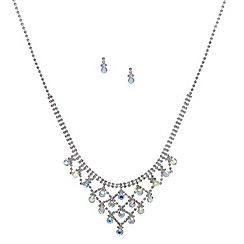 Red Herring - Aurora borealis crystal droplet set
