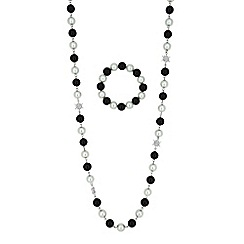 Red Herring - Monochrome pearl jewellery set