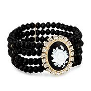 Web exclusive cameo rose stretch bracelet