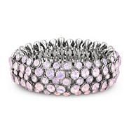 Pink crystal stone embellished stretch bracelet