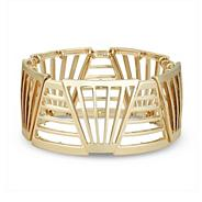 Gold cut out panelled stretch bracelet