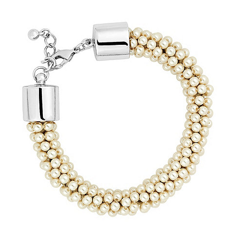 Red Herring - Mini pearl cluster round bracelet