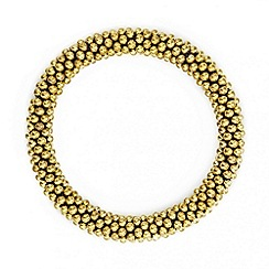 Red Herring - Polished gold mini ball cluster stretch bracelet