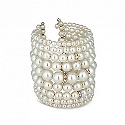Red Herring - Web exclusive pearl statement cuff