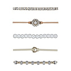 Red Herring - Pearl crystal friendship bracelets multipacks