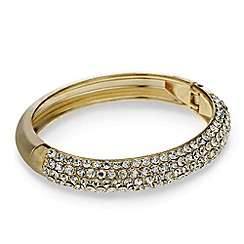 Red Herring - Pave crystal hinge bangle