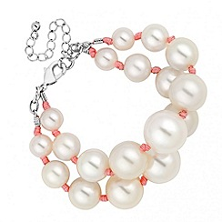 Red Herring - Chunky pearl double row bracelet