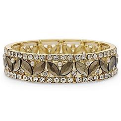 Red Herring - Decorative pearl fan stretch bracelet