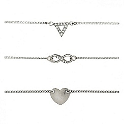 Red Herring - Online exclusive charm bracelet trio set