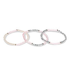 Red Herring - Multicoloured facet bead stretch bracelet set