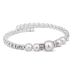 Red Herring - Pearl and crystal expander bracelet