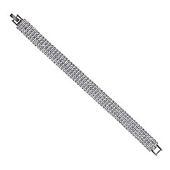 Red Herring - Diamante crystal five row bracelet