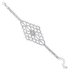 Red Herring - Diamante lattice bracelet