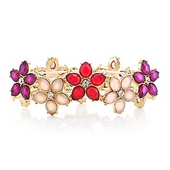 Red Herring - Pink tonal flower stretch bracelet