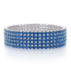 Red Herring - Blue diamante stretch bracelet