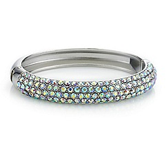 Red Herring - Aurora borealis crystal bangle
