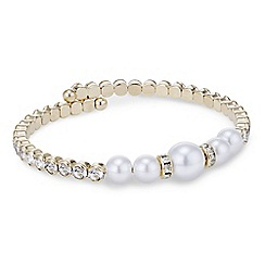 Red Herring - Pearl crystal coil bangle