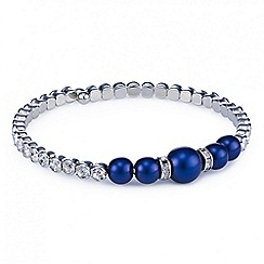 Red Herring - Blue pearl crystal coil bangle