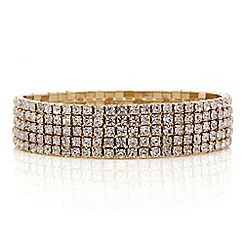 Red Herring - Gold diamante stretch bracelet