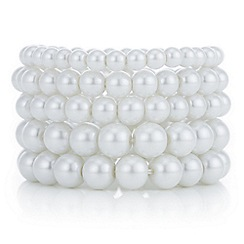 Red Herring - Pearl stretch bracelet set