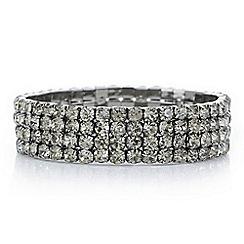 Red Herring - Black diamante stretch bracelet