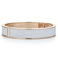 Red Herring - Rose gold glitter inlay bangle