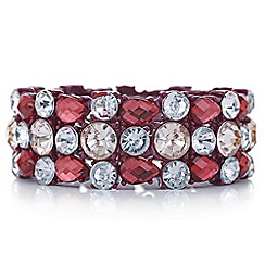 Red Herring - Red crystal statement bracelet