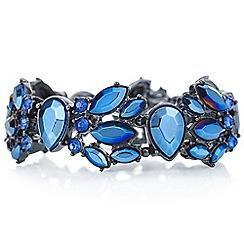 Red Herring - Metallic blue crystal bracelet