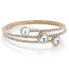 Red Herring - Rose gold crystal coil bracelet