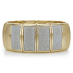 Red Herring - Gold glitter inlay stretch bracelet