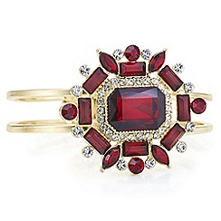 Red Herring - Red crystal opulent statement bangle