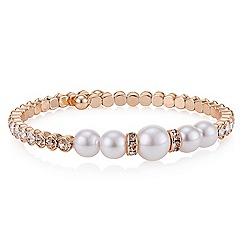 Red Herring - Rose gold pearl coil bracelet
