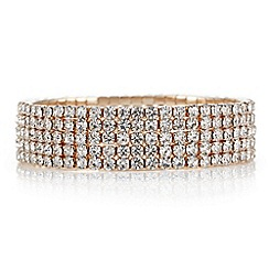 Red Herring - Rose gold diamante crystal bracelet