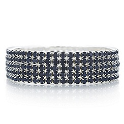 Red Herring - Blue diamante crystal stretch bracelet